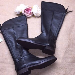 Franco Sarto Black Knee High Boots 9M